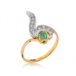 Золотое кольцо с изумрудом 0.20ct