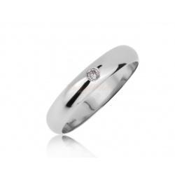 Патиновое кольцо с бриллиантом 0.07ct