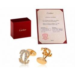 Золотые запонки с бриллиантами 2.25ct Cartier