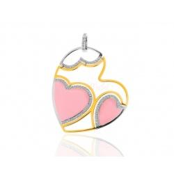 Золотая подвеска с бриллиантами 0.60ct Roberto Coin Heart