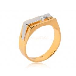 Золотое кольцо с бриллиантом 0.26ct