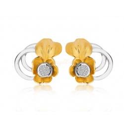 Золотые серьги с бриллиантами 0.22ct Annamaria Cammilli