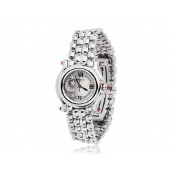 Стальные часы с рубинами 0.70ct Chopard Happy Sport