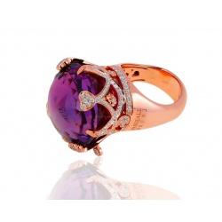 Золотое кольцо с аметистом и бриллиантами 1.60ct Pasquale Bruni