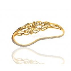 Золотой браслет с бриллиантами 5.40ct