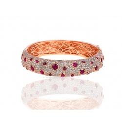 Золотой браслет с бриллиантами и рубинами Vignand Joailliers