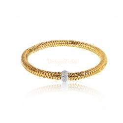Золотой браслет с бриллиантами 0.30ct Roberto Coin Primavera