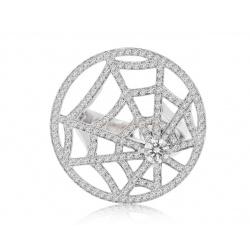 золотое кольцо с бриллиантами 1.35ct