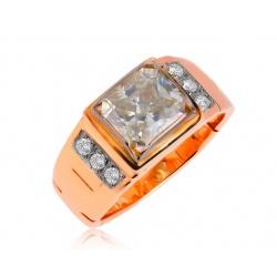 Золотое кольцо с муассанитом 2.21ct