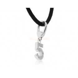 Золотой кулон с бриллиантами 0.15ct Chanel