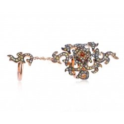 золотое кольцо с бриллиантами 1.40ct Dada Arrigoni