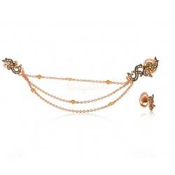 Золотые серьги с бриллиантами 1.01ct Dada Arrigoni