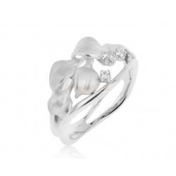 Золотое кольцо с бриллиантами 0.08ct Annamaria Cammilli