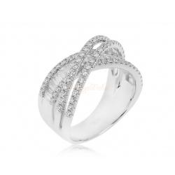 Золотое кольцо с бриллиантами 1.36ct