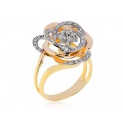 Золотое кольцо с бриллиантами 0.22ct