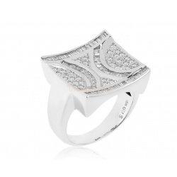 Золотое кольцо с бриллиантами 0.77ct