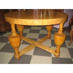 Круглый березовый стол Барокко