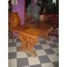 Стол обеденный с резьбой виноград, дуб, 1920-1930 гг. ( № 11062 )