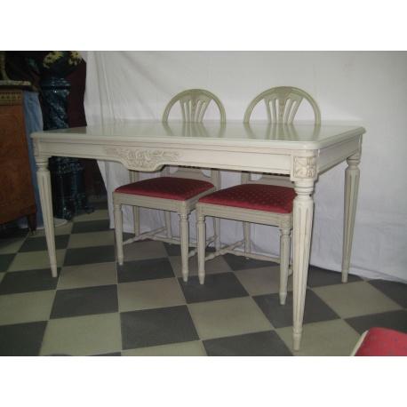 Столовый гарнитур, стол и 6 стульев, 1900 г. ( Лот 20845 )