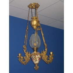 Люстра-лампа майолика 1900 год