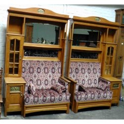 Книжный шкаф с диваном ( Лот Kv 309)