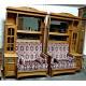 Книжный шкаф со встроеным диваном