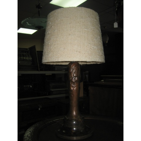 Лампа настольная медная