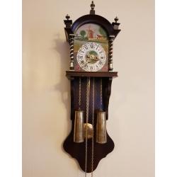 Часы с росписью настенные F. Hermle