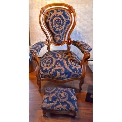 Кресло с пуфом винтажные