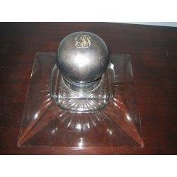 Чернильница старинная из стекла