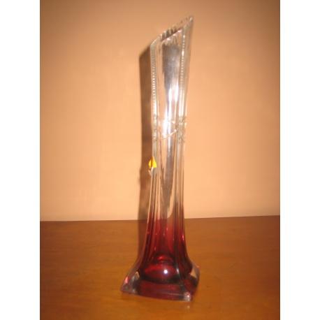 Цветная стеклянная ваза, винтаж