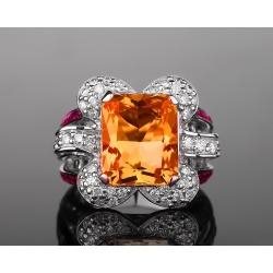 Safo Joailleri золотое кольцо с крупным цитрином