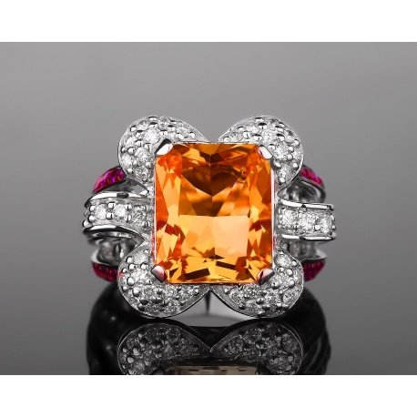 Safo joailleri золотое кольцо с крупным цитрином Артикул: 200417/17