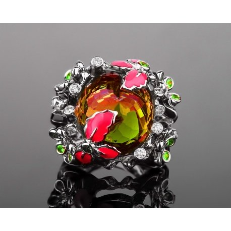 Safo joailleri коктейльное золотое кольцо Артикул: 200417/14