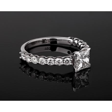Роскошное золотое кольцо с бриллиантами 1.71ct Артикул: 070517/5