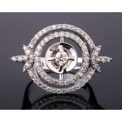 Элегантное золотое кольцо с бриллиантами 0.90ct