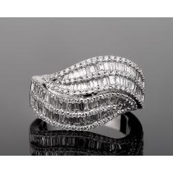 Atasai шикарное бриллиантовое кольцо 3.01ct