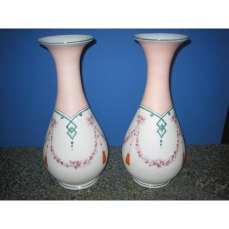 Парные стеклянные вазы, 1900 год