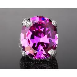 Волшебное бриллиантовое кольцо с аметистом