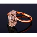 Старинное золотое кольцо с бриллиантами 0.84ct