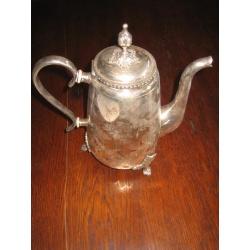 Чайник антикварный мельхиоровый