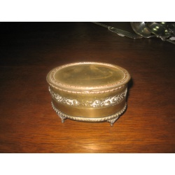 Шкатулка старинная из металла