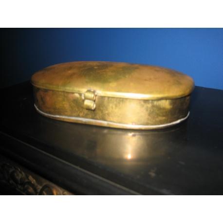 Старинная металлическая табакерка