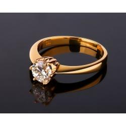 Помолвочное кольцо с бриллиантом 1 карат