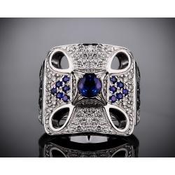 Zancan кольцо с бриллиантами и сапфирами