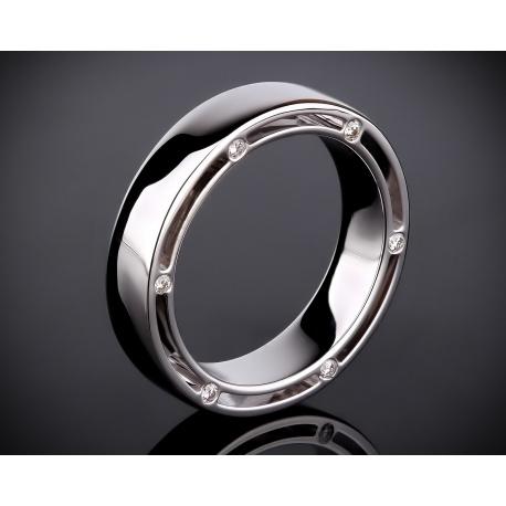 Мужской золотой перстень с бриллиантами Артикул: 071216/7